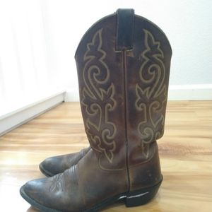 Justin leather cowboy boots size 8.5D